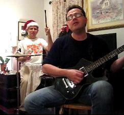 Sneak's Noise Founding Members Jamming in a Living Room